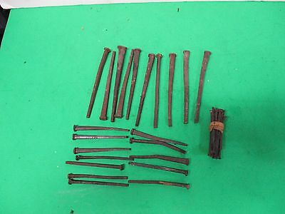 vintage 3 sizes of square nails