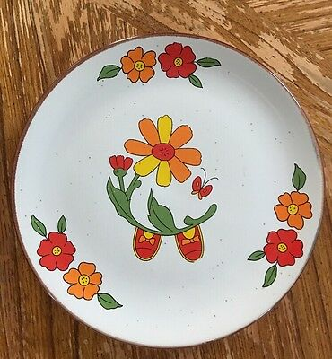 Vintage INTERPUR Ceramic PLATE ONLY - Part of Little Girl Stacking Set - Korea