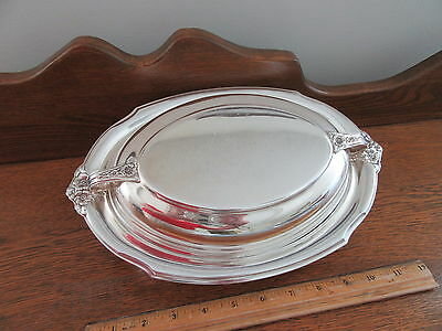 Silver Plate Covered Bread Serving Tray