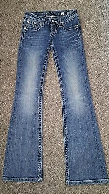 Pre-owned Miss Me Jeans Girls Size 12 Boot Cut