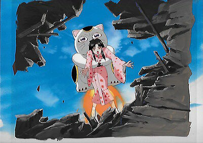 Countdown Temptation anime original Japanese production cel 59 with background
