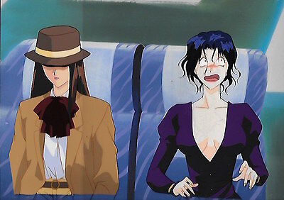 Countdown Temptation anime original Japanese production cel 37 with background
