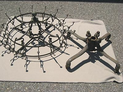 Antique Vintage Cast Iron Commercial Size Hall Rack Coat Stand CLAW Feet ESTATE