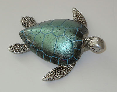 "Sea Turtle Figurine Teal Sealife Wild Animal 4"" Wide New Sold Individually"