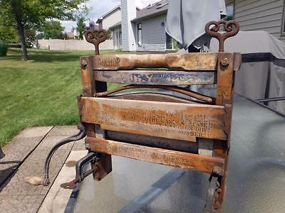 Antique Anchor Brand Bicycle No. 110 Clothes Wringer Lovell Mfg. Erie PA