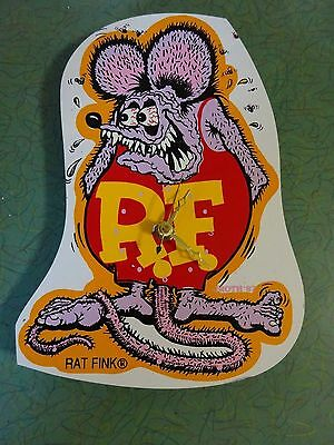 Rat Fink Clock Rare Hard To Find Ed Big Daddy Roth Nos Hand Made Masonite