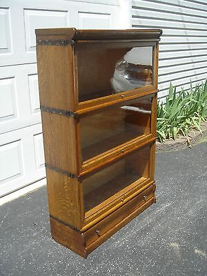 "Qsaw Oak ""Globe Wernicke"" Barrister/Stack Bookcase ""FREE"" Greyhound Shipping"