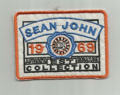 Vintage Sean John Signature Label Collection Patch Designer Clothing 1969 3 Inch