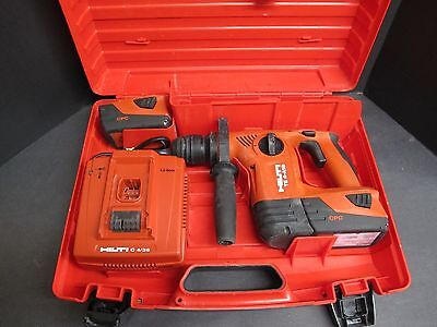 Hilti TE 4-A18 CPC 18 Volt Rotary Hammer Drill Tool Kit w/ 2 batteries, charger