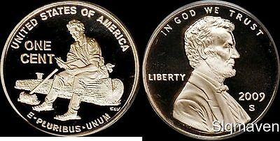 2009 S Lincoln Cent Formative Years Deep Cameo Gem Proof No Reserve