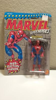 Action Figure - Marvel Super Heros Spiderman with web suction hands TOY BIZ