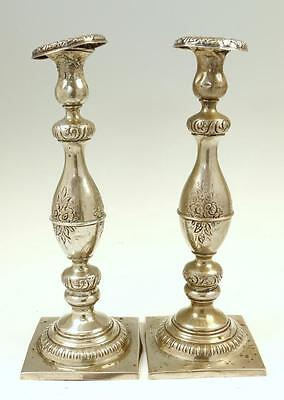 A PAIR OF SILVER CANDLESTICKS. Germany, c. 1800