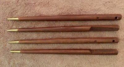 Set Of 4 MCM Tapered Table Legs Walnut Dining Table