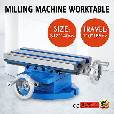 13x 6 Milling Machine Cross Slide Worktable X Y Axis Adjustment Table Bench