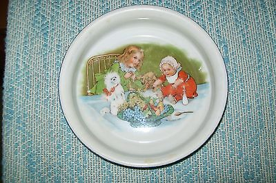 Vintage Antique Germany 78 Porcelain Child's Baby Feeding Dish Bowl
