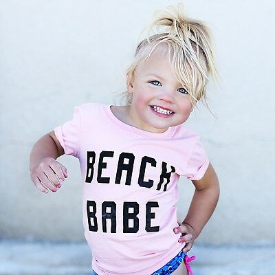 9-12M white Newborn Baby Girls Toddler Short Sleeve T-shirt Tee Outfits Clothes