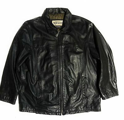 Men's Wilson Leather M. Julian Jacket Size XL Black Casual Motorcycle Riding