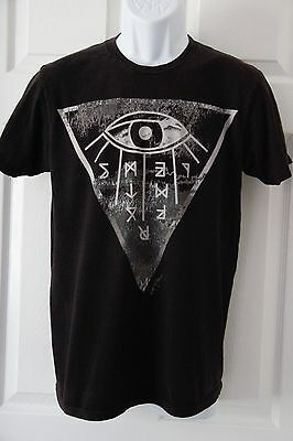 RING OF FIRE Los Angeles Eye Graphic Tee T-Shirt Size Medium 100% Cotton Black