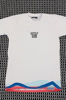 """PINK DOLPHIN """"Legends at Our Craft"""" Size Small Jersey/Shirt Embroidered White"""