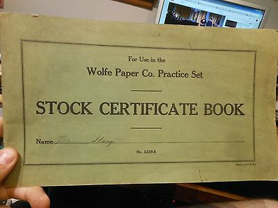 Fremont Ohio ? Wolfe Paper Company Common Stock Shares Book Certificates