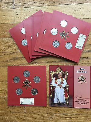 one (1) 2005 POPE JOHN PAUL II MEMORIAL COIN SET