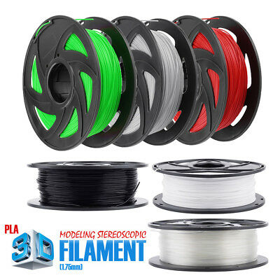 DIY 3D Printer Filament PLA 1.75mm 1kg/Roll Multiple Colours 300M MakerBot TOY