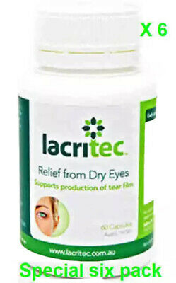 Lacritec X 6 Bottles Relief From Dry Eyes and eye strain DHA and EPA Omega 3