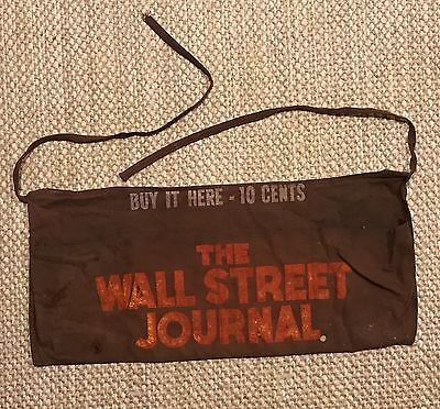 Vintage~The Wall Street Journal Canvas  Apron~Rare