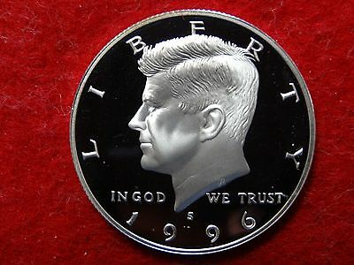 1996 S Kennedy Proof 90% Silver Deep Cameo Half Dollar  #8R