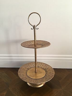 New Matte Gold Two-tier Stand.  Never Used. Cupcake Stand. Cake Stand