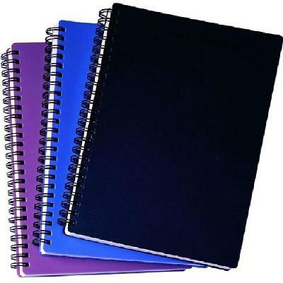 A4 Spiral Project Book Lined 160 Page Paper Notebook Tabbed Writing Journal Pad
