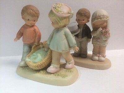 Lucie Attwell Memories Of Yesterday Enesco Lot Of 2