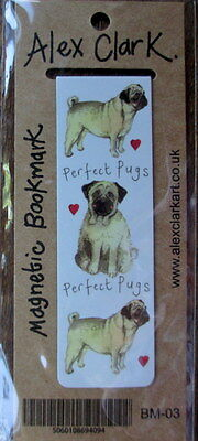Perfect Pugs Small Magnetic bookmark Alex Clark Dogs Christmas Stocking Gift