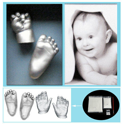 Baby 3D Plaster Handprints Footprints Hand & Foot Casting Keepsake Mini Kit Gift