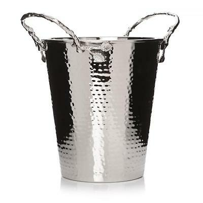 Leaves Tree Branch Silver Metal Drink Ice Champagne Wine Holder Cooler Bucket