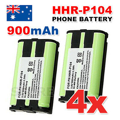 4X OZ Just For Panasonic HHR-P104 2X Cordless Phone Battery Ni-MH 3.6V 900mAh