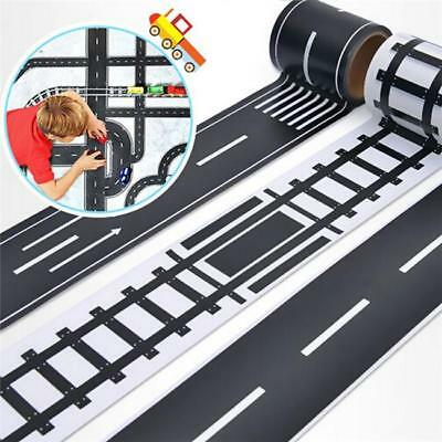 Railway Washi Tape Traffic Road Adhesive Masking Tape Kids Car Play Toy JJ
