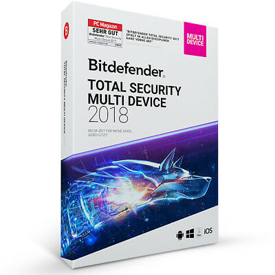 Bitdefender Total Security Multi Device 2018 - 5 Geräte (PC) | 2 Jahre DOWNLOAD