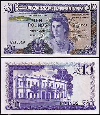 GIBRALTAR - Banknote of 10 Pounds 1986 - UNC