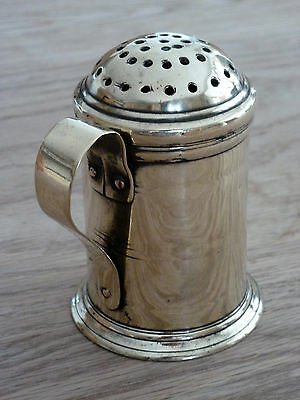 Georgian English 18th century brass flour caster dredger sifter