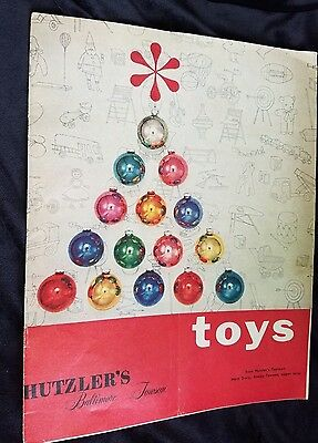 1950's Christmas Toy Catalog Hutzler's Department Store Baltimore Towson