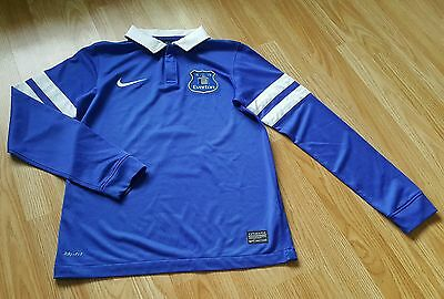 Boy Nike Everton Football Longsleeved Shirt Aged 10-12 Years Joel 3