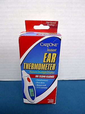 CareOne 67-340 Instant Ear Thermometer - New