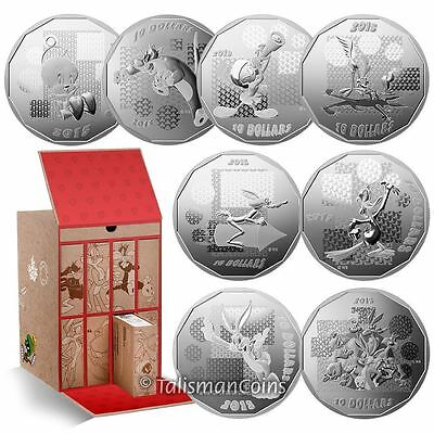 Canada 2015 Looney Tunes 8 Coin $10 Silver Proof Set in Display Case Tower Box