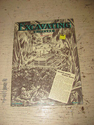 Jan 1949 Excavating Engineeer Construction Magazine Military Bucyrus Erie Crane