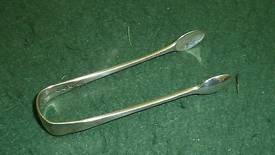 Small Solid Sterling Silver HM 1886 Antique Aldwinckle & Slater Sugar nip Tongs