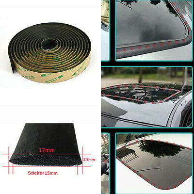 5M Waterproof Sealed Strip Trim For Car Windshield Sunroof Triangular Window New