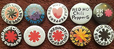 Red Hot Chili Peppers Button Badges x 10. Pins. Collector. Bargain :0)