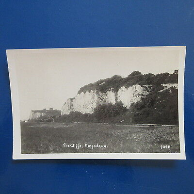 Old Postcard of The Cliffs, Kingsdown, Kent.