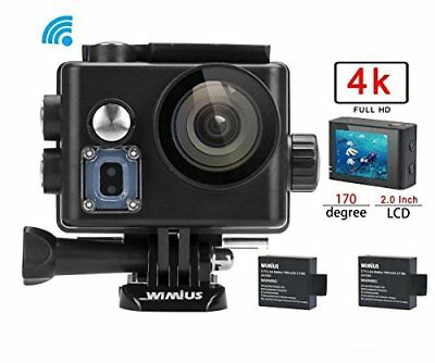 WiMiUS 4K 30fps Sports Action Camera 16MP WiFi Waterproof Camcorder 1080p